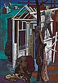 Peppino Mangravite (American, 1896-1978) Music on the Rooftops 45 x 32in
