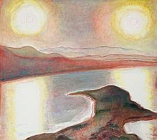 Frederick S. Wight (American, 1902-1986) Seal Bay (Two Returning Series), 1985 48 x 54 1/4in