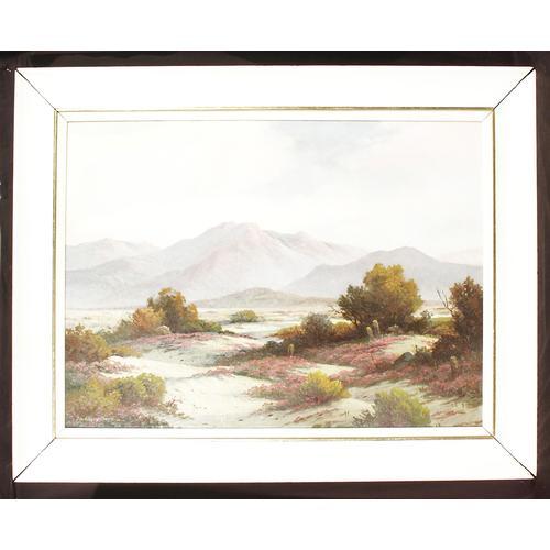 John Anthony Conner; Flowering Dunes, oil on canvas