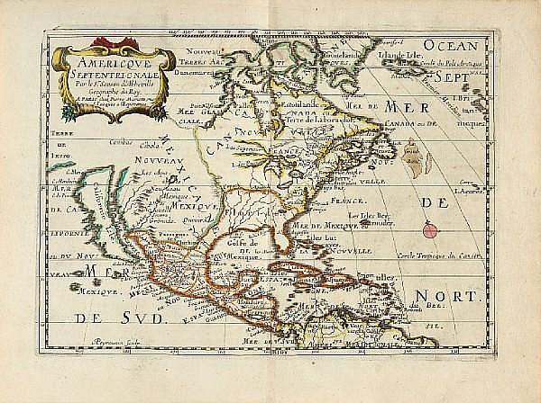 SANSON D'ABBEVILLE, NICHOLAS. 1600-1667. L'Amerique en plusieurs cartes nouvelles, et exactes, &c. Paris: chez l'autheur, [c.1667].