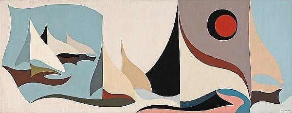 Karl Stanley Benjamin (American, born 1925) Untitled, 1956 52 x 20in (132 x 51cm)