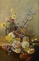 Carle John Blenner (American, 1862-1952) Chrysanthemums 31 x 21in, Carl Blenner, Click for value