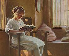 Robert Alexander Graham (1873-1946) Gladys Reading 20 x 24in