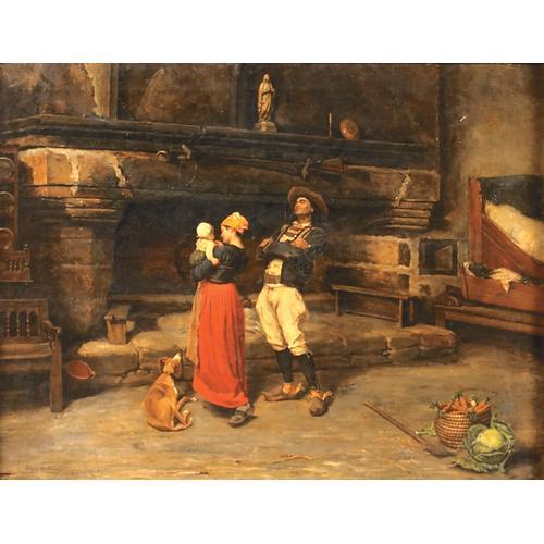 Edgar Melville Ward Fierte Paternelle Oil