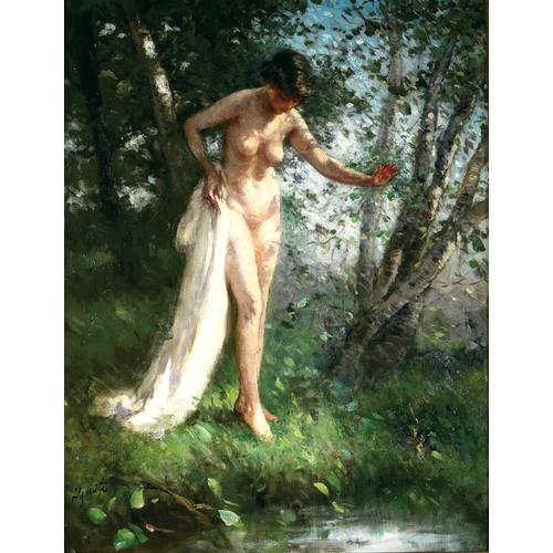 Lillian Mathilde Genth Standing Nude oil painting