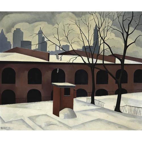 Ault Brooklyn View Oil Painting