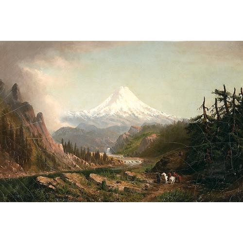 Cleveland Salter Rockwell Mt. Rainier oil painting