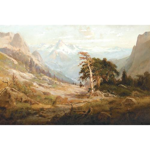 William Keith Riders Cresting a Sierra Pass Oil on canvas