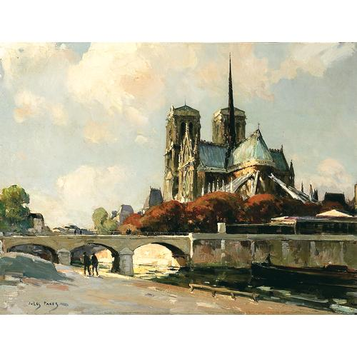 Jules Eugene Pages Notre Dame Oil