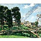 Pages Landscape Oil painting, Jules Eugene Pages, Click for value