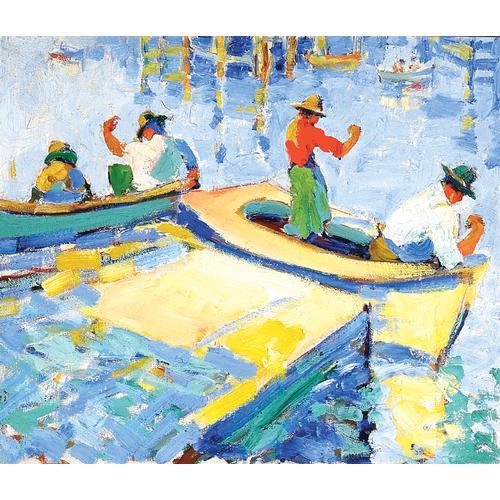 Selden Connor Gile Italian Fisherman oil painting