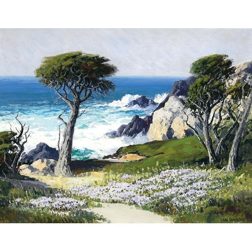 Carl Sammons Cypress Trees 17 Mile Drive, Carmel Oil painting