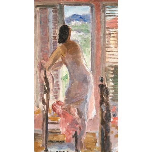 Mabel Alvarez, Nude by an Open Doorway
