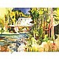 Milford Zornes Bridge at Sutter's Mill and three other watercolors, Milford Zornes, Click for value