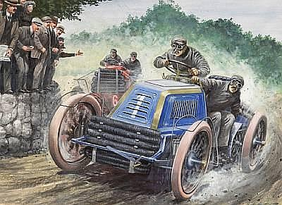 Carlo Demand (1921-2000), '1902 Gordon Bennett Race',