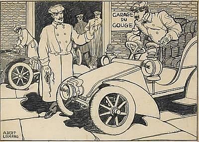 Albert Levering (1869-1929), 'Garage du Gouge',
