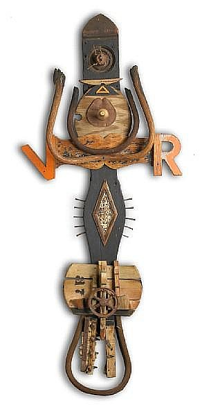 Gordon Wagner (American, 1915-1987) V.R., 1954 56 x 24 1/2 x 5in (142 x 62 x 12cm)