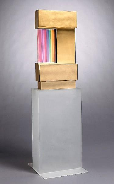 Fletcher Benton (American, born 1931) Two Rectangles/3 Bars, 1976 69 1/4 x 20 1/4 x 21 1/4in (176 x 51 x 54cm)