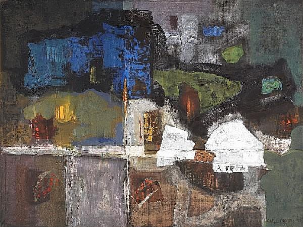Carl Morris (American, 1911-1993) Night Woods, 1957 36 x 48in (91 x 122cm)