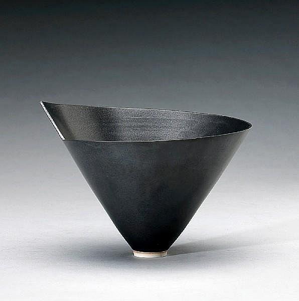 Elsa Rady (American, born 1943) Black Bowl, 1983 height 6 1/4in (16cm)