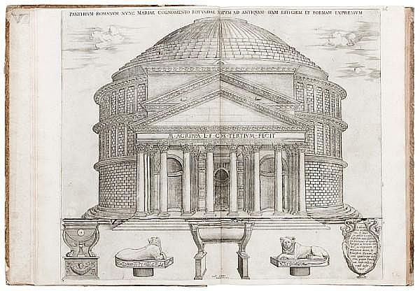 LAFRERI, ANTONIO. 1512-1577. [Speculum Romanae magnificentiae.] Rome: Antonio Lafreri, [plates dated 1546-72].