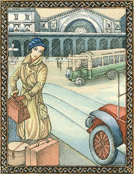 SZYK, ARTHUR, illus. 1894-1951. BENOIT, PIERRE. Le Puits de Jacob. Paris: Albin Michel, [1927].