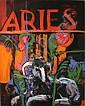 Henrietta Berk (American, 1919-1993) Aries ram 60 x 48in, Henrietta Berk, Click for value