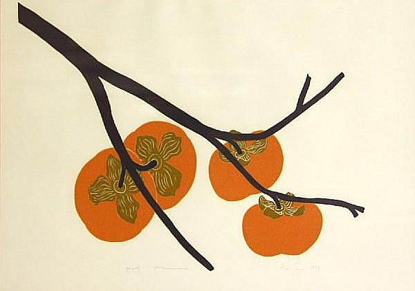 Henry Evans (American, 1918-1990); Persimmons; Pomegranate; (2)