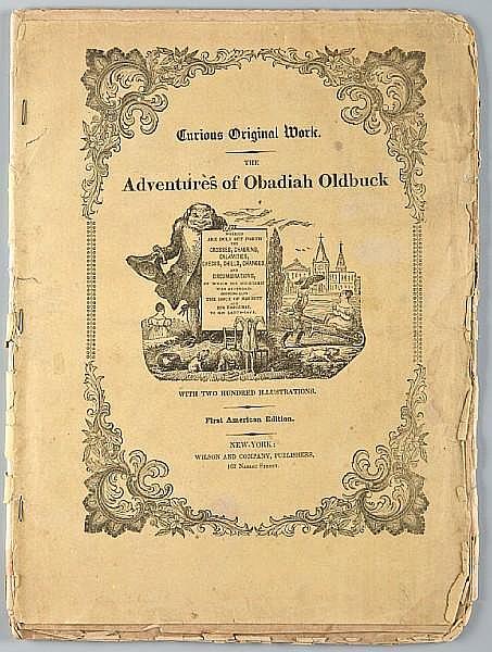 [TÖPFFER, RODOLPHE. 1799-1846.] The Adventures of Mr Obadiah Oldbuck. New York: Wilson and Company, September 14, 1842.