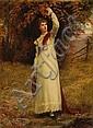 Jennie Augusta Brownscombe (American, 1850-1936) Autumn foliage 30 x 22 1/4in, Jennie Augusta Brownscombe, Click for value