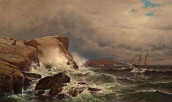 Mauritz Frederik Hendrick De Haas (1832-1895) Star Island, Isle of Shoals 24 x 40in