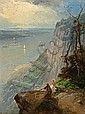 Andrew Melrose (American, 1836-1901) View of the Hudson River from Guttenberg, NJ 12 1/2 x 9 1/2in, Andrew W Melrose, Click for value