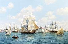 Roy Cross (British, born 1924) Salem Harbor, 1806