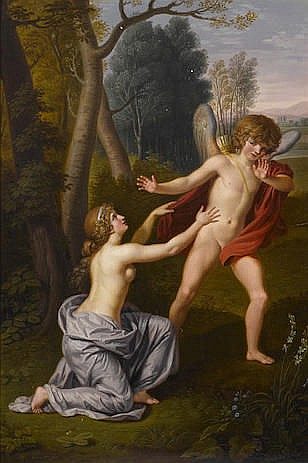 Ludwig Guttenbrunn  (Austrian, 1750-1819)  Cupid and Psyche 20 1/