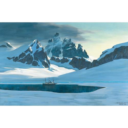 Curtis Antarctica Landscape Oil