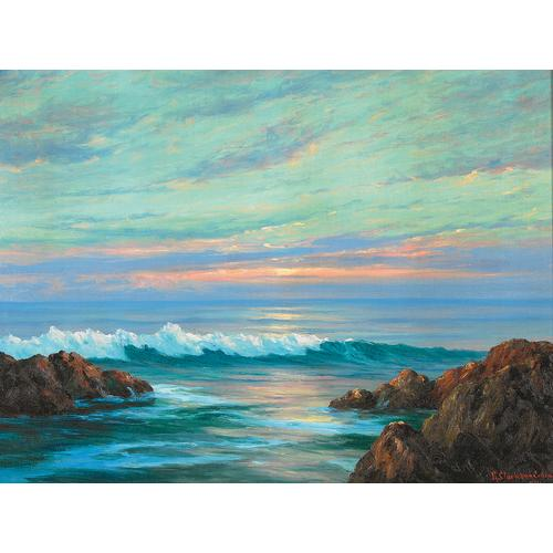 Colman Sunset Seascape Painting
