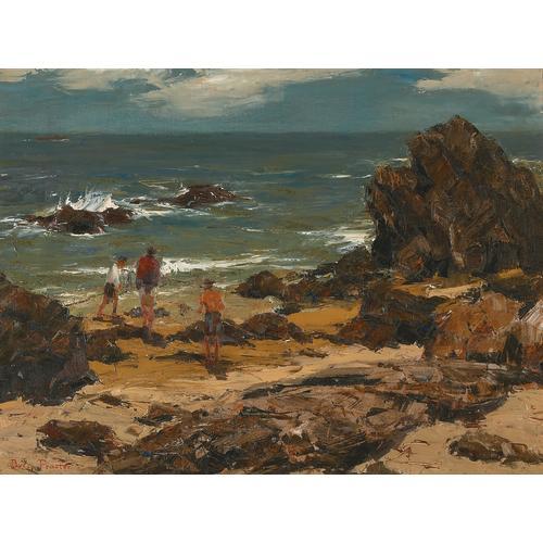Procter Beach Rocks Ocean Oil