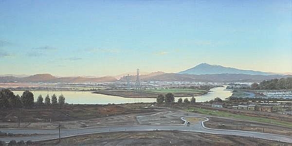 Willard Dixon (American, born 1942) San Rafael Canal, 1980 18 x 36in