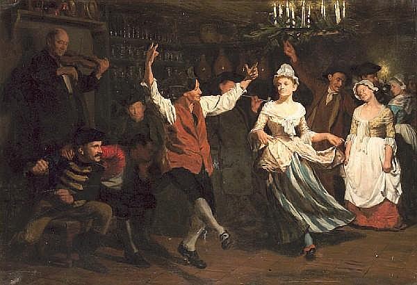 Gustav Vilhelm Blom (Danish, 1853-1942) The candlelight dance 47 3/4 x 68in (121.3 x 172.7cm)