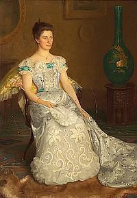Sidney W. White (British, active 1892-1903) Anticipation 72 x 50in (182.9 x 127cm)