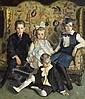 Harrington Mann (British, 1864-1937) A family portrait of four children 63 x 52in (160 x 132cm), Harrington Mann, Click for value