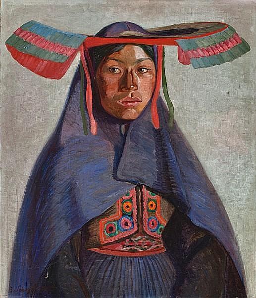 Jose Sabogal (Peruvian, 1888-1956) India del Collao, 1925 27 3/4 x 23 3/4in (70.5 x 60.3cm)