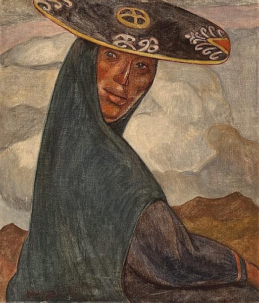 Jose Sabogal (Peruvian, 1888-1956) India Quchua, 1935 27 1/2 x 23 3/4in (69.8 x 60.3cm)