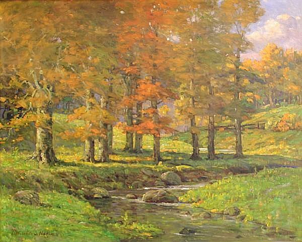 Maurice Stewart Hague (born 1862) The murmuring brook 22 1/4 x 27in