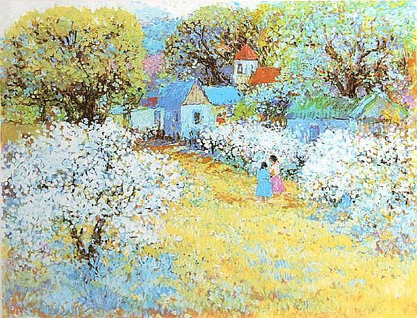 Dane Clark (American, born 1934); Summer Blossoms;