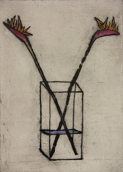 Richard Spare (British, 1951); Amaryllis; Bird of Paradise; Delphinium; Sunflower Bowl; (4)