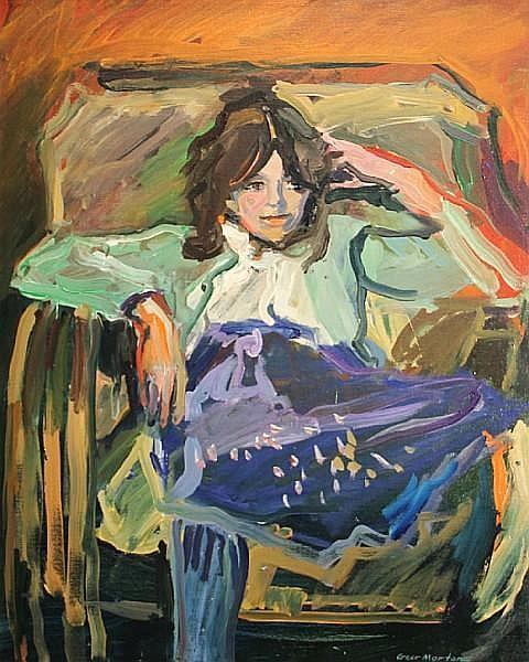 Geer Morton (American, born 1935) Girl in blue skirt, 1978 30 x 24in