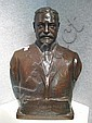 An American patinated bronze bust of Dr. Morris Loeb after a model by Karl Theodore Francis Bitter (American, 1867-1915) Jno Williams, Inc. Bronze Foundry, New York late 19th/early 20th century, Karl Theodore Francis Bitter, Click for value