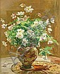 Angelina Drumaux (Belgian, 1881-1959) Still life with white flowers in a vase 16 1/4 x 12 3/4in, Angelina Drumaux, Click for value