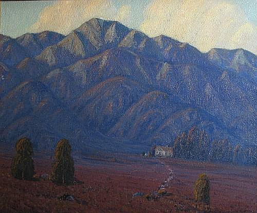 Ernest Browning Smith (American, 1866-1951) Purple mountains, 1922 28 x 36in